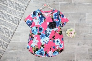 Sassy The Print Top with Party Pocket
