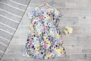 Floral Bulgari Dress with Pockets