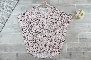 Abstract Leopard Top