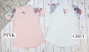 Sweet and Comfy Floral Detail Top