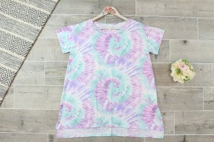 Spiraling Tie Dye Top