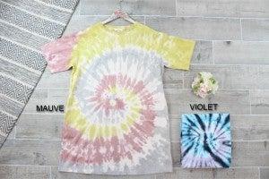 Spiral Tie Dye T-Shirt Dress