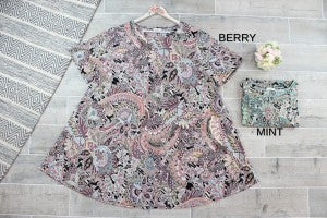 Paisley Swing Dress with Pockets