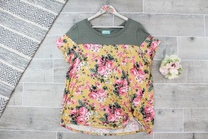 With A Touch Of Floral Top
