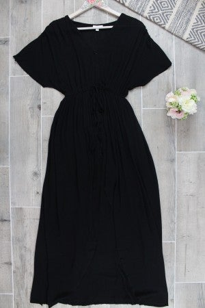 See The Good- Surplice Maxi Dress