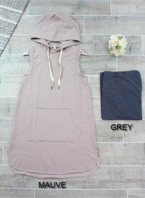 Sleeveless Hooded Mini Dress