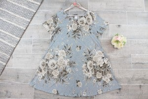 Antique Floral Swing Dress