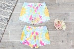 Tie Dye Jean Judy Blue Shorts