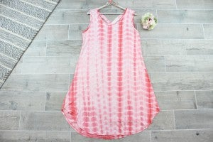 Summer Dreams Tie Dye Dress with Crisscross Back
