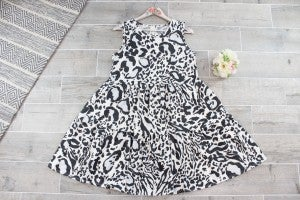 Tiered Animal Print Dress