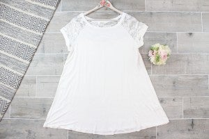 Classy Tunic top with Lace Detail