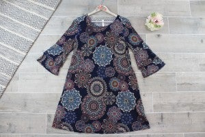 Dark And Sophisticated Mandala Dress