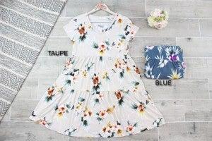 Floral Tiered V neck Dress