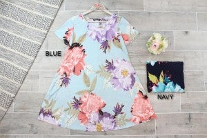 Summer Time Floral Swing Dress
