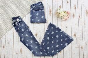 Judy Blue Star Print Super Flare Jeans