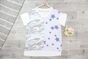 Patched Together Patriotic Top