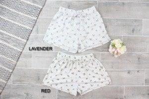 Floral Knit Shorts
