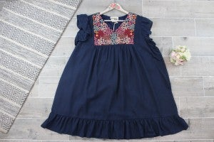 Flower Patch embroidered Shift Dress