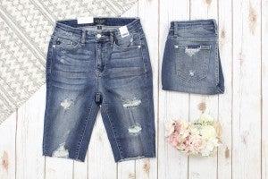 Judy Blue Destroy Cutoff Bermuda Shorts