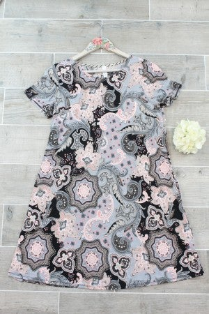 Paisley Dress with Pockets