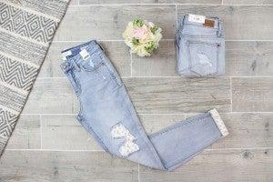 Flower Patch Light Wash Judy Blue Jeans