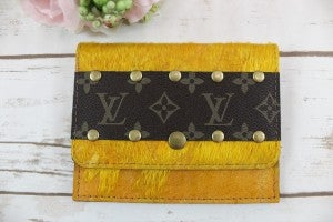 LV Upcycled Travel Wallet