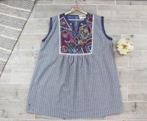 Geometric Embroidered Dress