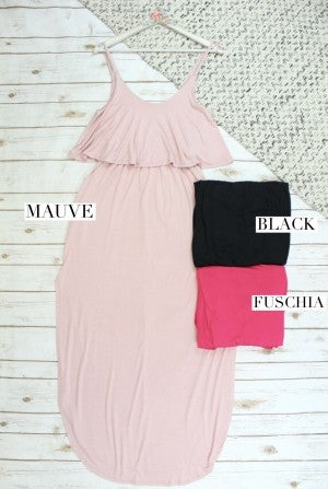 Simple Solid Maxi Dress