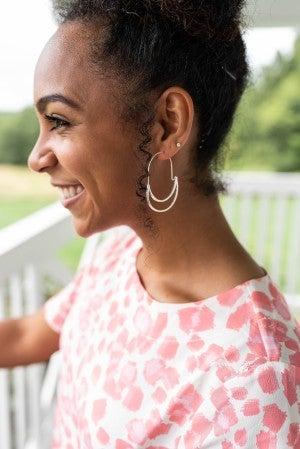 Double Hoop Earrings *Final Sale*