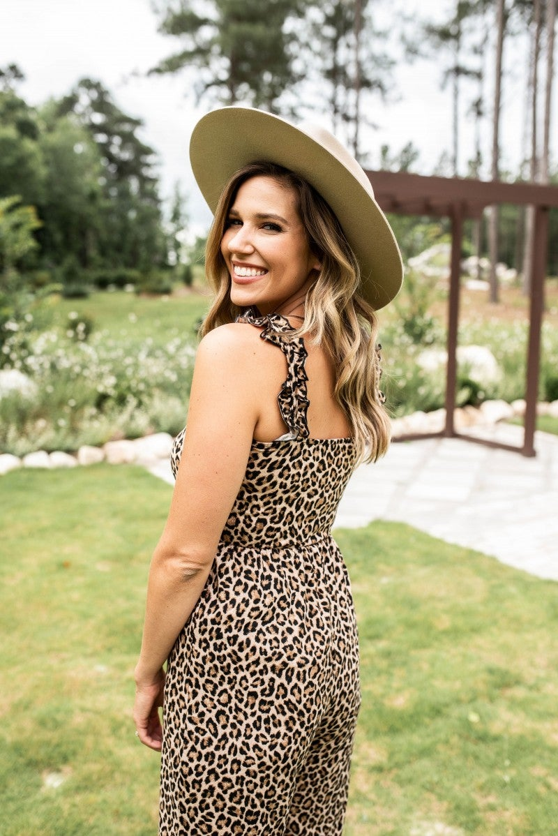 Wild About Comfy Cheetah Jumpsuit