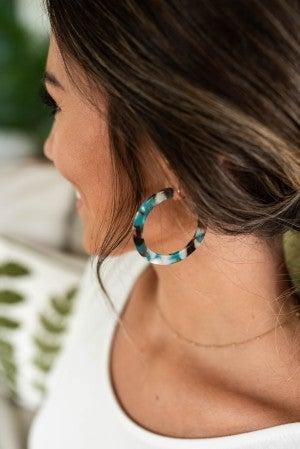 Deep Blue Ocean Earrings *Final Sale*