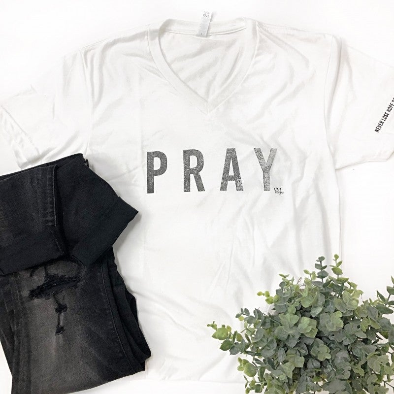 Pray V-Neck Tee *Final Sale*