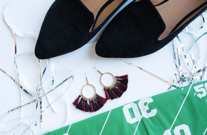 Game Day Tassel Earrings