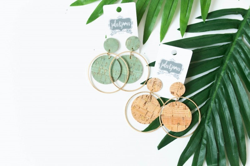 The Jenny Cork & Circle Earrings