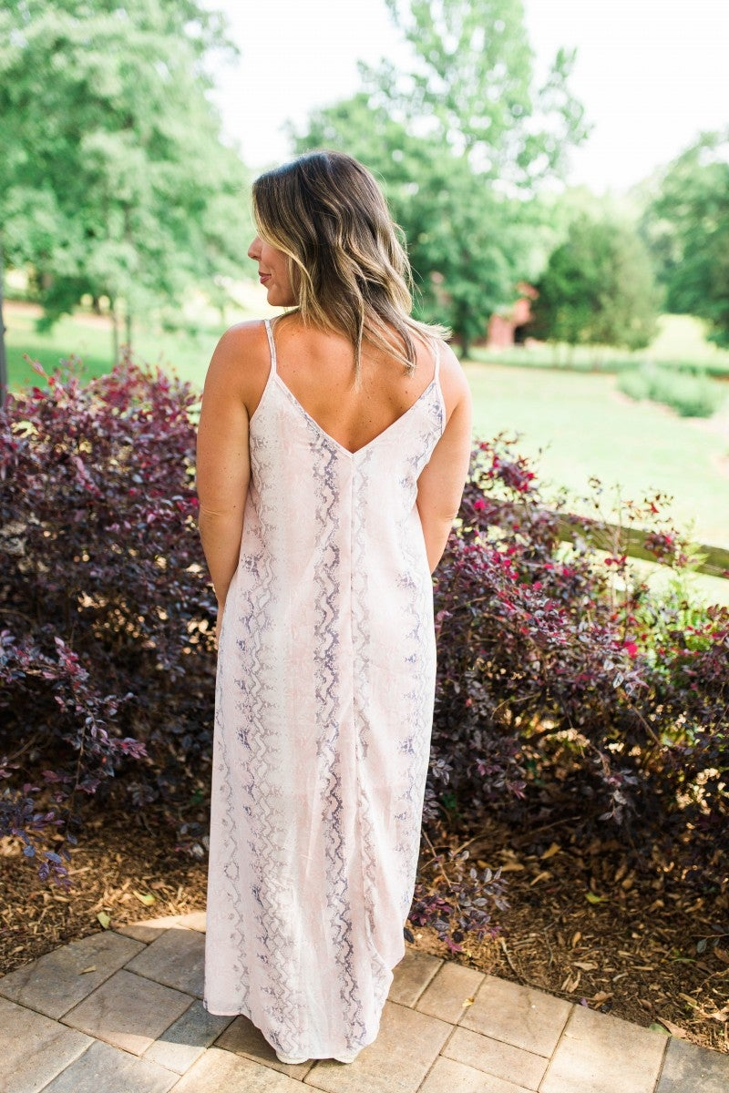 The Love Struck Snakeskin Maxi