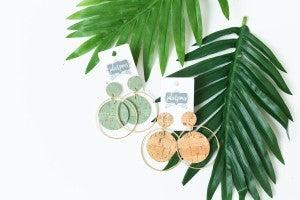 The Jenny Cork & Circle Earrings