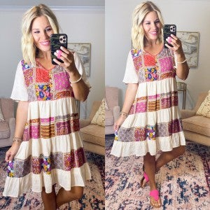 Pretty in Patchwork Dress