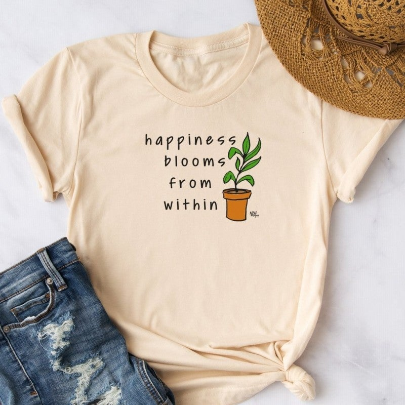 Happiness Blooms From Within Tee *Final Sale*
