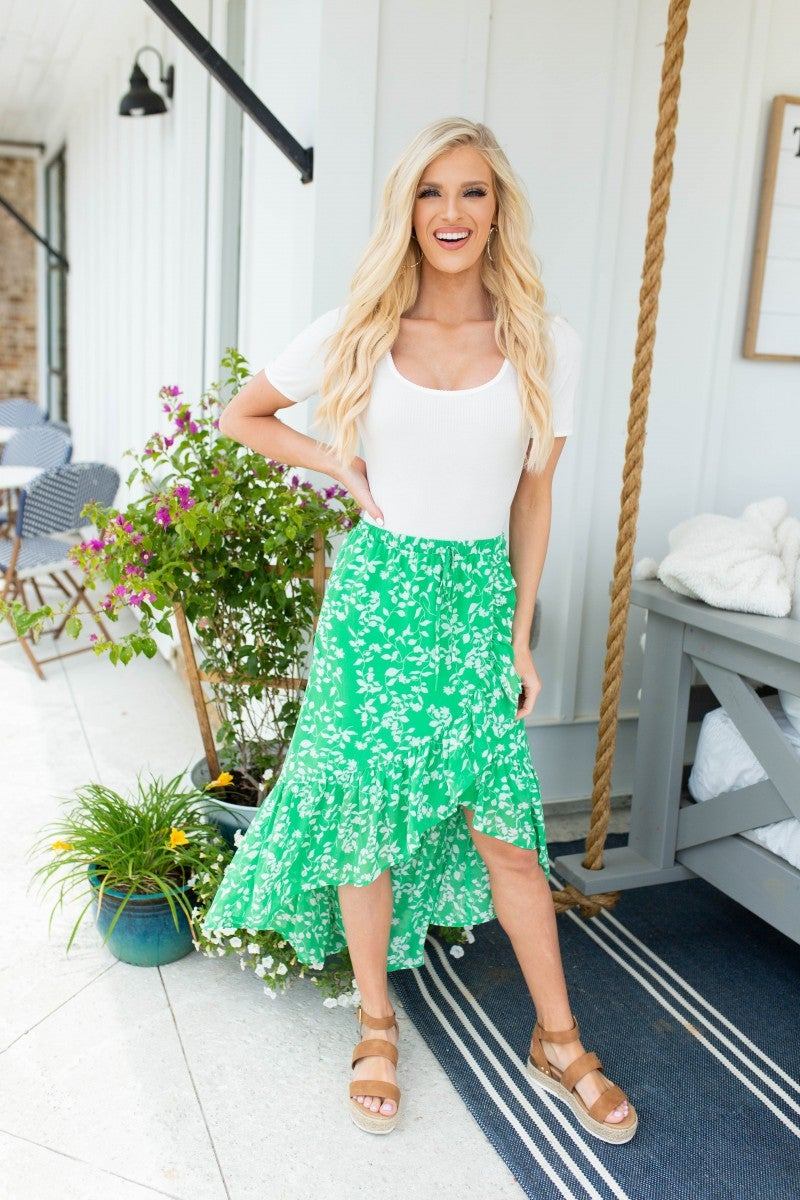 Brunch Babe Floral Skirt