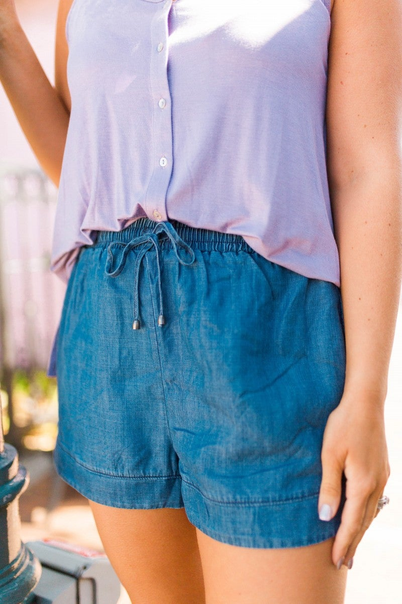 Dare To Dream Chambray Shorts *Final Sale*