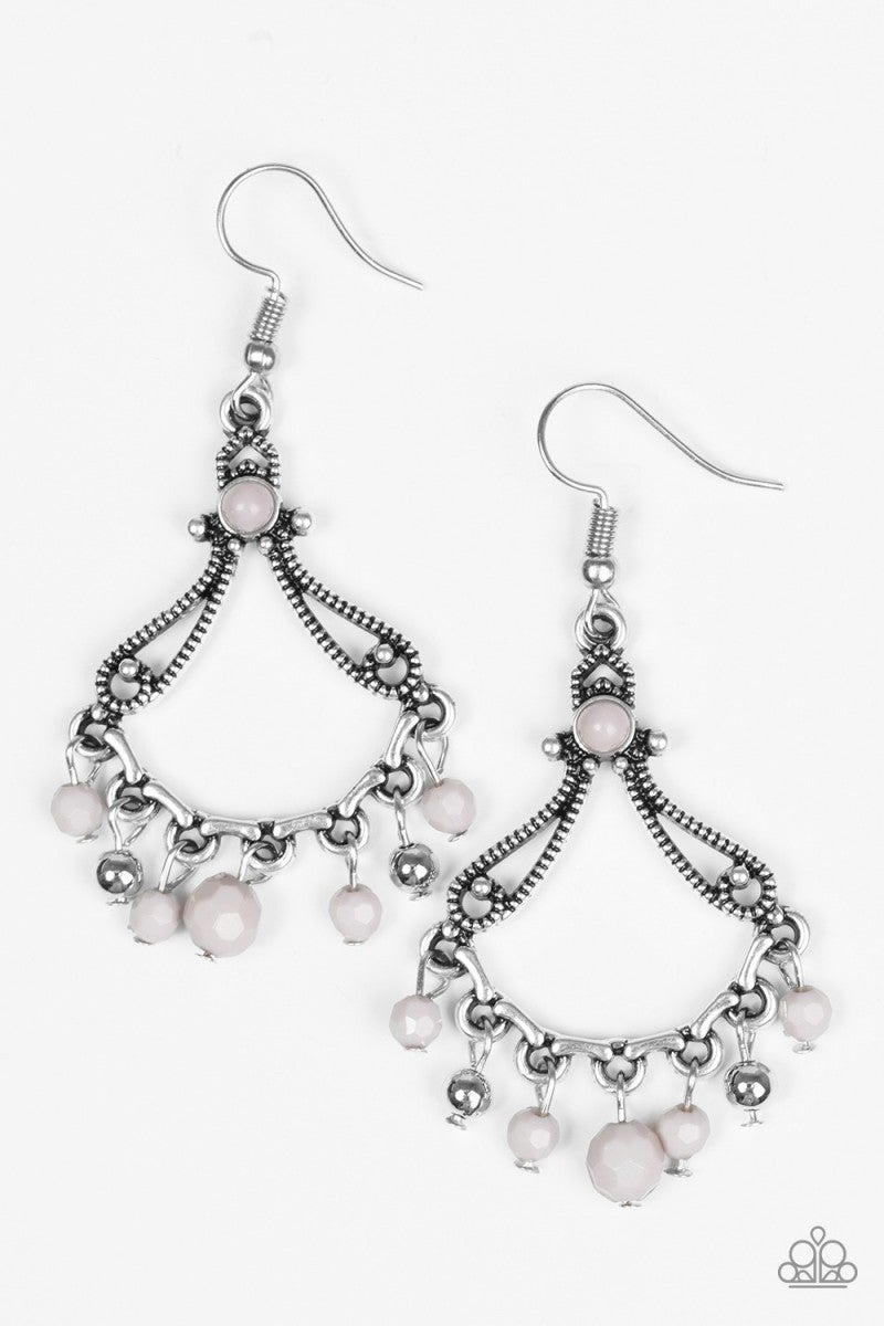 Dazzling Date Night - Silver Earrings