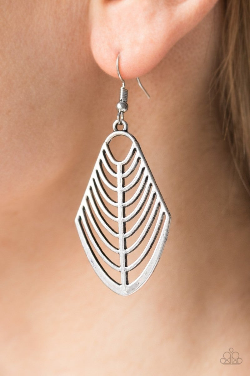 Right On Tracker - Silver Earrings