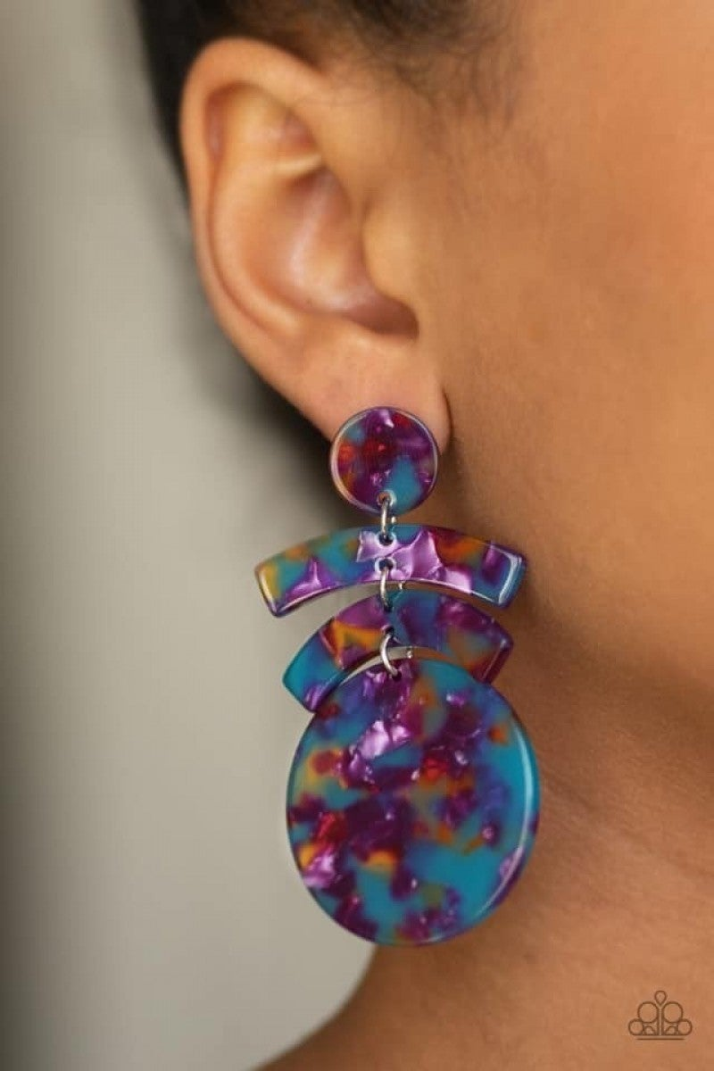 In The Haute Seat - Multi Acrylic Post Earring