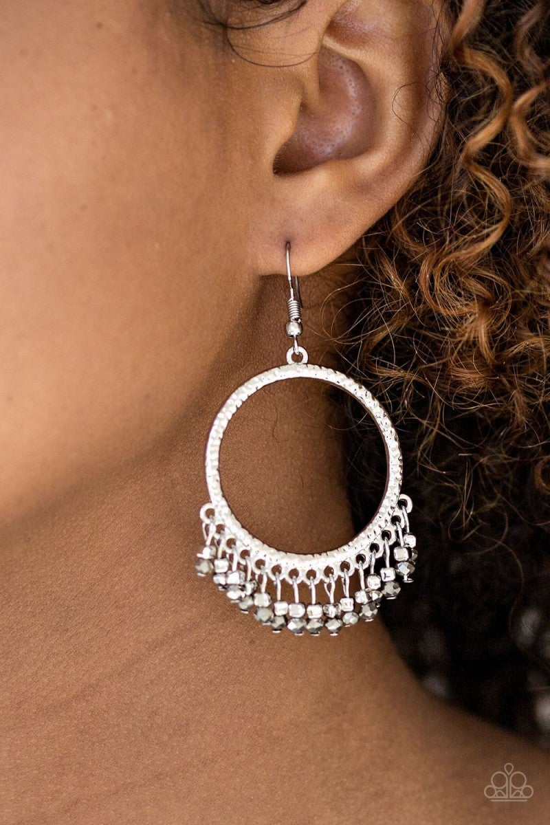 Tambourine Tango - silver Earrings