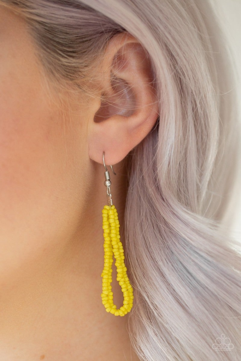 Let It Bead - Yellow Seed Bead Necklace