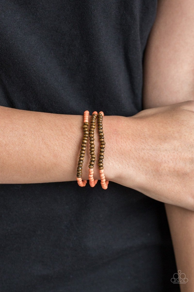 Woodland Wanderer - Orange Bracelet