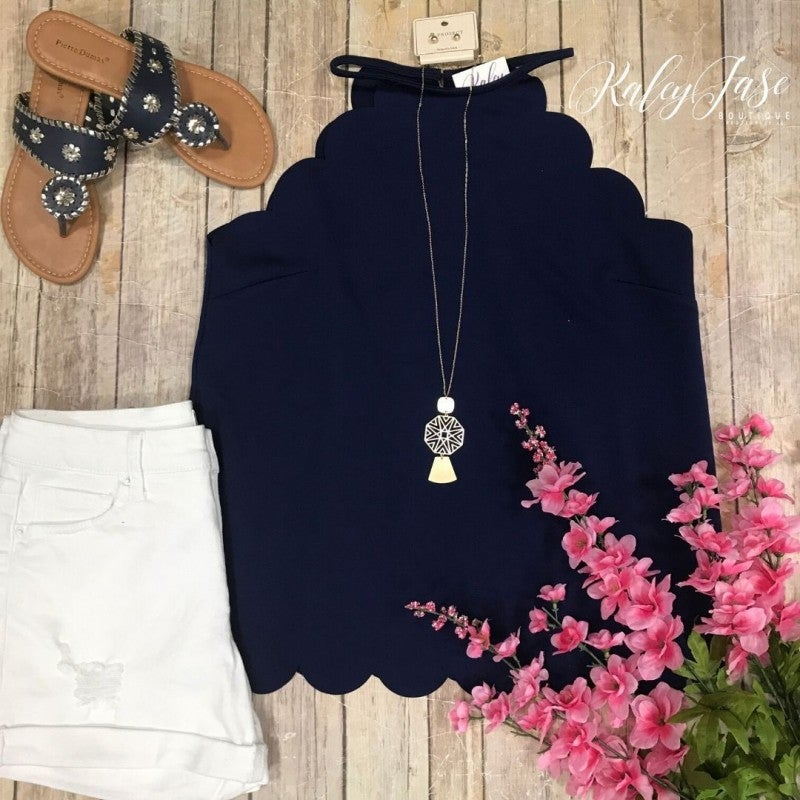 Navy Scallop Tank