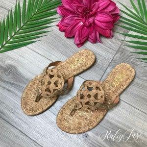 Cork Cutout Sandals