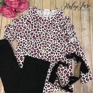 HM Ivory/Pink Leopard Ladder Sleeve
