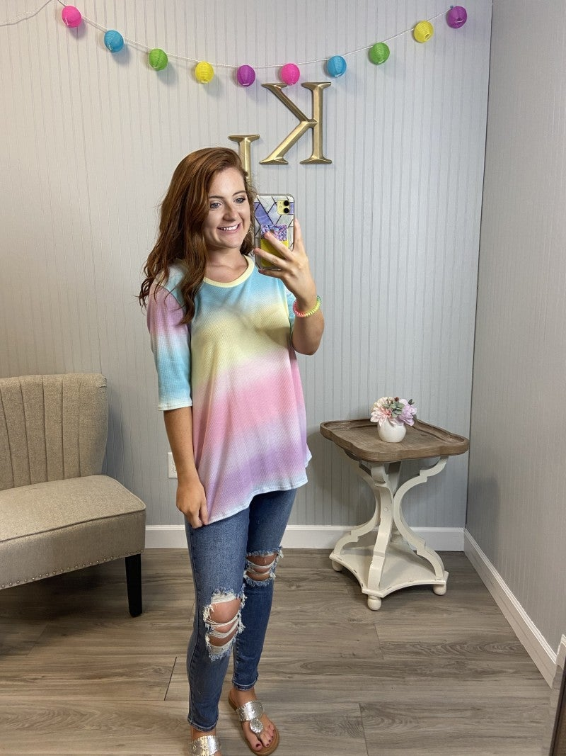 Ombre S/S Rainbow Top